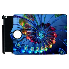 Top Peacock Feathers Apple iPad 2 Flip 360 Case