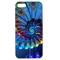 Top Peacock Feathers Apple iPhone 5 Hardshell Case with Stand