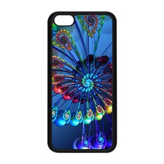 Top Peacock Feathers Apple iPhone 5C Seamless Case (Black)