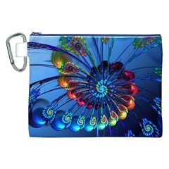 Top Peacock Feathers Canvas Cosmetic Bag (XXL)