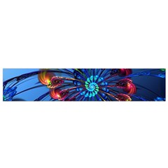 Top Peacock Feathers Flano Scarf (Small)