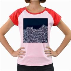 Flower Star Women s Cap Sleeve T Shirt