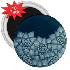 Flower Star 3  Magnets (10 Pack)