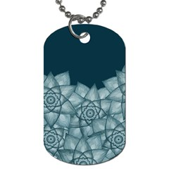 Flower Star Dog Tag (two Sides)