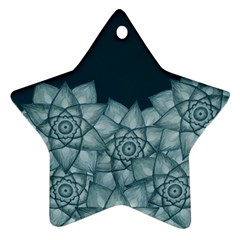 Flower Star Star Ornament (two Sides)