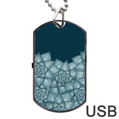 Flower Star Dog Tag Usb Flash (two Sides)