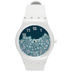 Flower Star Round Plastic Sport Watch (m)