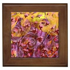 Falling Autumn Leaves Framed Tiles