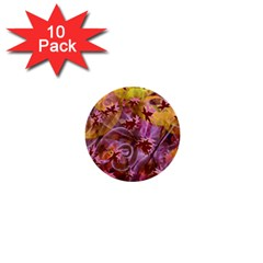 Falling Autumn Leaves 1  Mini Buttons (10 Pack)