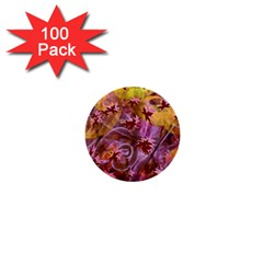 Falling Autumn Leaves 1  Mini Buttons (100 Pack)