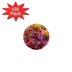 Falling Autumn Leaves 1  Mini Magnets (100 Pack)