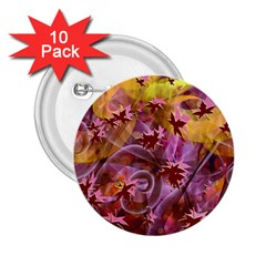 Falling Autumn Leaves 2 25  Buttons (10 Pack)