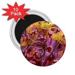 Falling Autumn Leaves 2 25  Magnets (10 Pack)