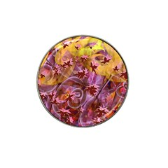 Falling Autumn Leaves Hat Clip Ball Marker (4 Pack)