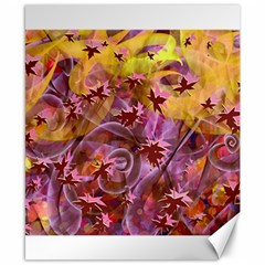 Falling Autumn Leaves Canvas 8  X 10