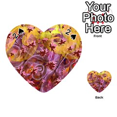 Falling Autumn Leaves Playing Cards 54 (heart)