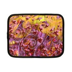 Falling Autumn Leaves Netbook Case (small)