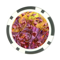Falling Autumn Leaves Poker Chip Card Guards (10 Pack)