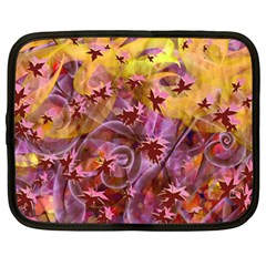 Falling Autumn Leaves Netbook Case (xxl)