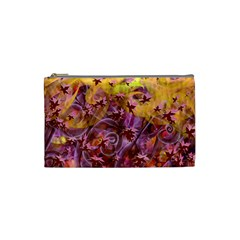 Falling Autumn Leaves Cosmetic Bag (small)