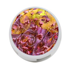Falling Autumn Leaves 4 Port Usb Hub (two Sides)