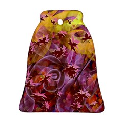 Falling Autumn Leaves Bell Ornament (2 Sides)