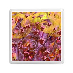 Falling Autumn Leaves Memory Card Reader (square)