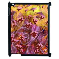 Falling Autumn Leaves Apple Ipad 2 Case (black)