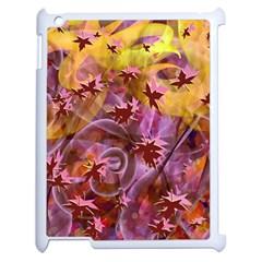 Falling Autumn Leaves Apple Ipad 2 Case (white)