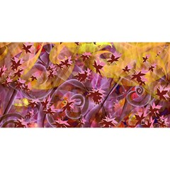 Falling Autumn Leaves You Are Invited 3d Greeting Card (8x4)