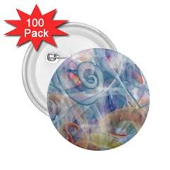 Spirals 2 25  Buttons (100 Pack)
