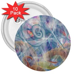 Spirals 3  Buttons (10 Pack)