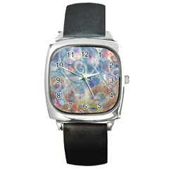 Spirals Square Metal Watch