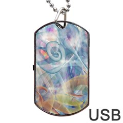 Spirals Dog Tag Usb Flash (two Sides)