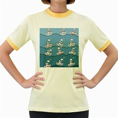 Boats Women s Fitted Ringer T-Shirts