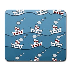 Boats Large Mousepads