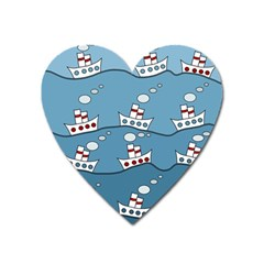 Boats Heart Magnet