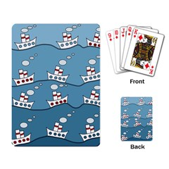 Boats Playing Card