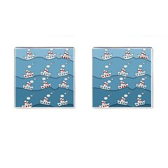 Boats Cufflinks (Square)