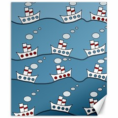 Boats Canvas 8  x 10