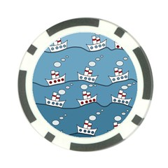 Boats Poker Chip Card Guards (10 pack)