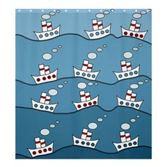 Boats Shower Curtain 66  x 72  (Large)