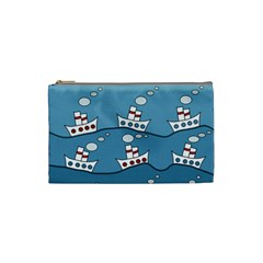 Boats Cosmetic Bag (Small)
