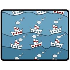 Boats Fleece Blanket (Large)