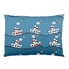 Boats Pillow Case (two Sides)