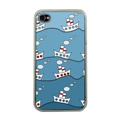 Boats Apple iPhone 4 Case (Clear)