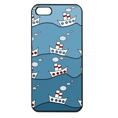 Boats Apple iPhone 5 Seamless Case (Black)