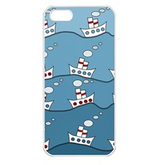 Boats Apple iPhone 5 Seamless Case (White)