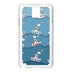 Boats Samsung Galaxy Note 3 N9005 Case (White)