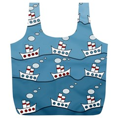 Boats Full Print Recycle Bags (L)